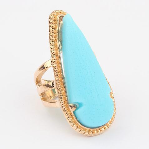 retro exaggerated water drop ring  fashion women sapphire ring jewelry wholesale  rings 2013