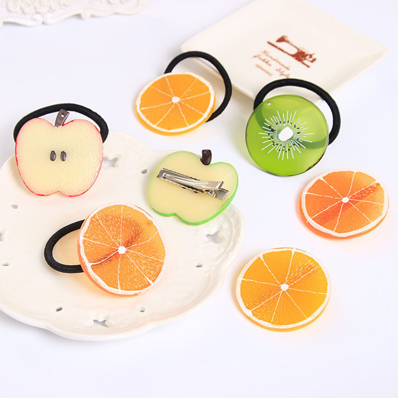 New Fruits Slice Multi-Patterns Hair Accessories for Girls Women Elastic Hair Bands Rubber Bands Headwear(China (Mainland))