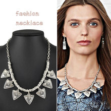 New Vintage Metal Statement Necklace for Women Jewelry(China (Mainland))