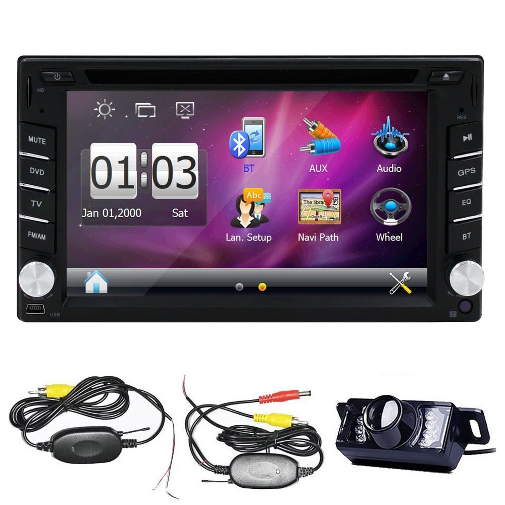 Wireless Back Camera 6.2inch In Dash Touch Screen Car DVD Player GPS Navigation Bluetooth radio Player(China (Mainland))