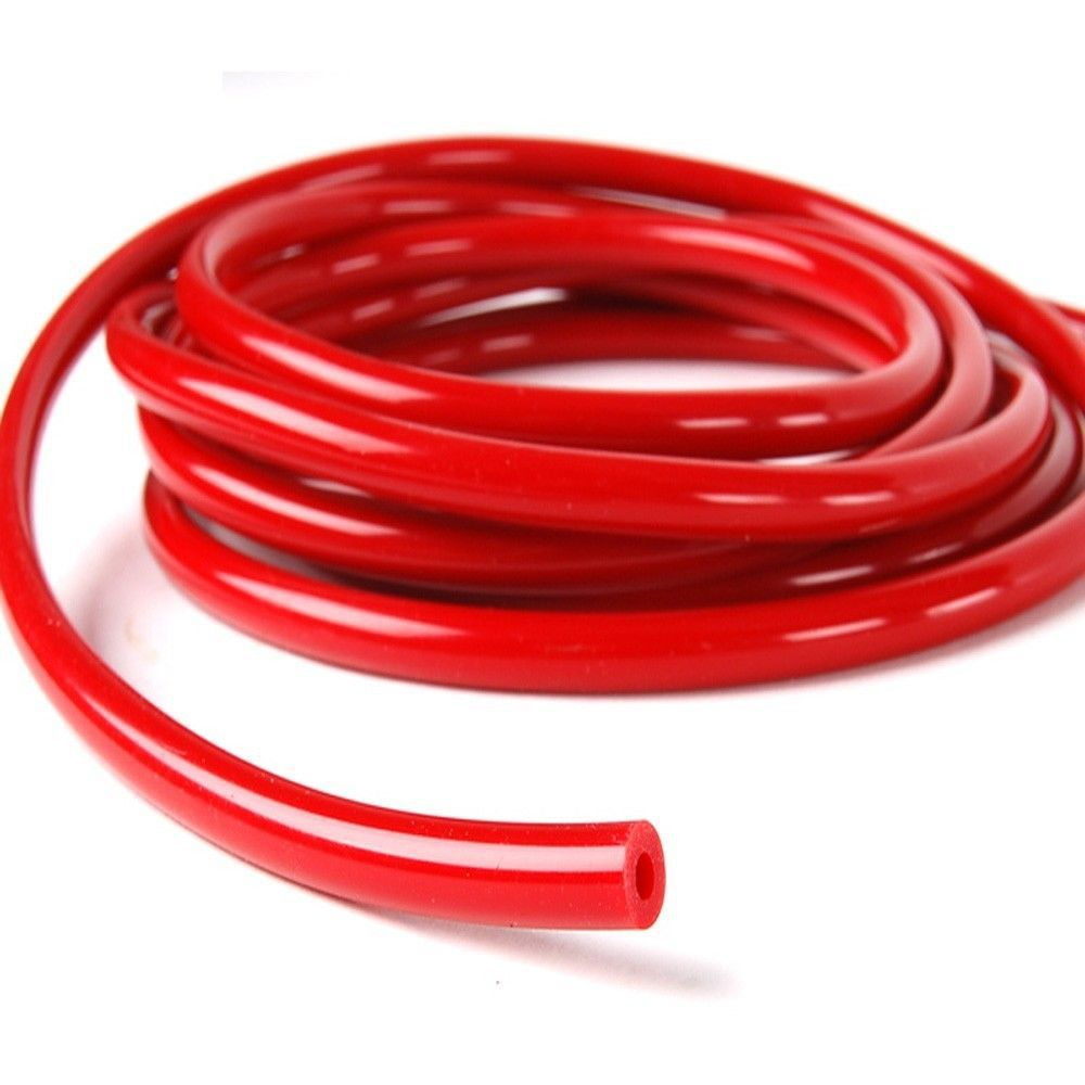 "Free Shipping Red 5/32"" (0.16"") or (4 mm) Inch Silicone vacuum Hose 100% guarantee One Meter(China (Mainland))"