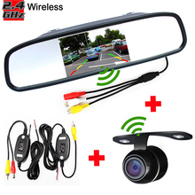 "Auto Parking Assistance Wireless Camera Monitor, Wireless 4.3"" Rearview Mirror Monitor With Rear view Camera(China (Mainland))"