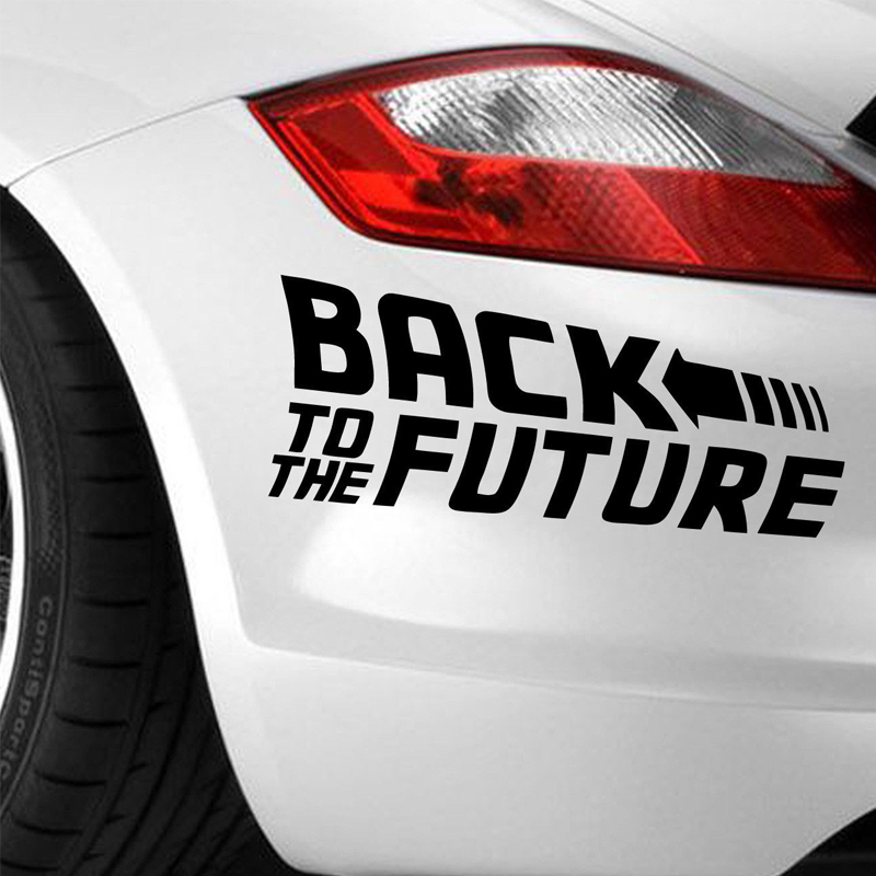 Back To The Future 2015 Marty Mcfly Emmett Brown Sticker Vinyl Decal Car Bumper(China (Mainland))