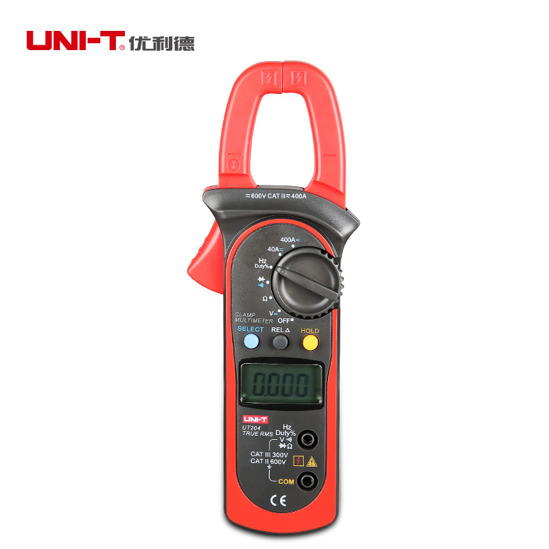 UNI-T UT204 Digital Clamp Multimeter 400-600A AC/DC Volt Amp Frequency Tester Auto Range<br><br>Aliexpress