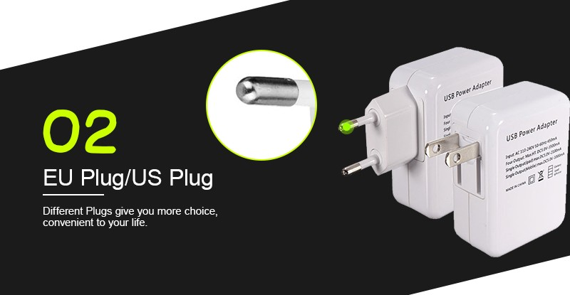 Hot Sale US/EU 4 USB Port Micro USB Charger USB Adapter HUB EU Plug For Samsung Charger For iPhone 6 6s Plus 5s For Phone