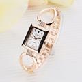 Relojes Mujer 2016 Brand LVPAI Quartz Watch Dress Women Watch Rhinestone Wristwatch Lady Gold Squre Bracelet