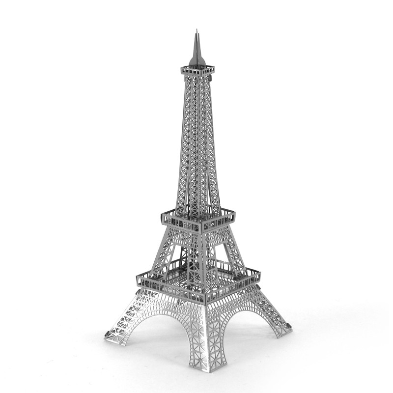 Eiffel Tower 3D Jigsaw Puzzles For Kids Nano Metal DIY Scale Model Building Architecture Juguetes Educations For Children(China (Mainland))