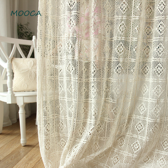 100 cotton greece vintage crochet curtain for living room for Cortinas vintage salon