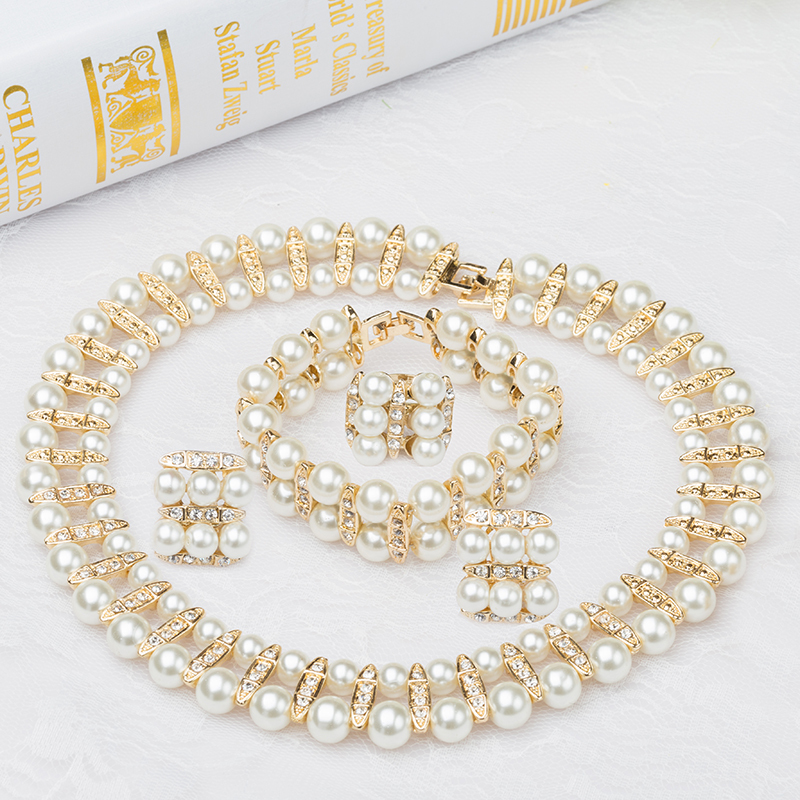 wedding bridal accessories for pearl jewelries sets in jewelry sets