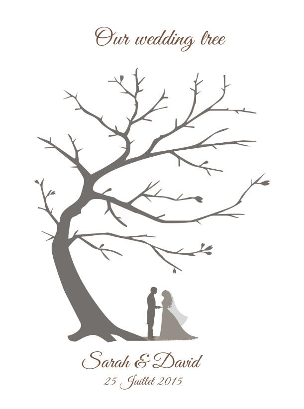 Customized Vintage Wedding Fingerprint Tree Guestbook Alternative Party Guest book Canvas Print Bridal Shower Wedding Decoration(China (Mainland))