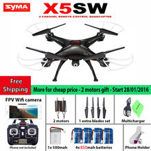 Hot sell SYMA X5SW / X5SW-1 WIFI Drone Quadcopter with FPV Camera Headless 6-Axis Real Time RC Helicopter Quad copter Toys