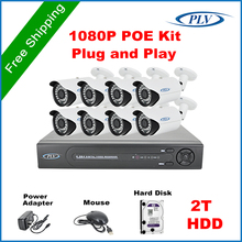 PLV 8CH HDMI POE NVR Network Video Record 1080P Full HD Home Security Camera POE System Plug and Play with 2TB pre-installed HDD(China (Mainland))