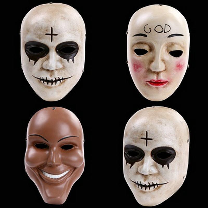 Halloween Horror Mask clear plan with paragraph humanity grade resin mask Mask Bar nightclub masks(China (Mainland))