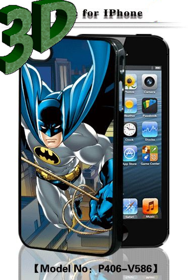 3D EFFECT cartoon Hero movie the USA Captain America case batman case superman case cover for apple iphone 4 4s 5 5s(China (Mainland))
