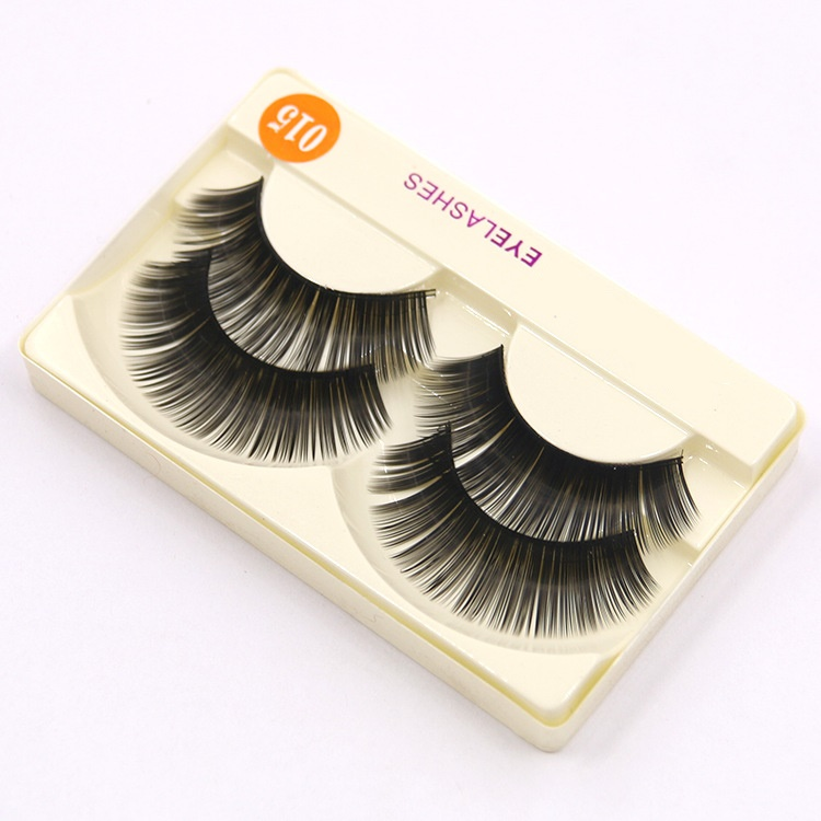 2Pair Natural Soft Mink Eye Lashes Professional Luxury Makeup Handmade Lashes Thick Fake False Eyelashes Extension Beauty D15(China (Mainland))