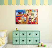 Buy 2017 New canvas pictures kids room oil painting picture abstract canvas art wall hand painted oil painting wall decoration for $29.90 in AliExpress store