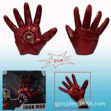 Free Shipping Superhero Iron Man Mark 3 Gloves with LED Light PVC Action Figure Toy 1pcs IM008