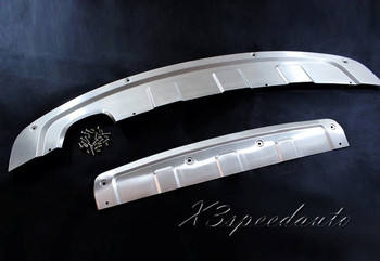 High Quality Stainless Steel Front + Rear Bumper Protector Guard For Volkswagen Tiguan 2013 2014