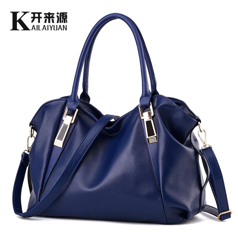 100% Genuine leather Women handbags 2016New bag ladies classic casual fashion handbag Crossbody Bag female soft hand bill lading(China (Mainland))