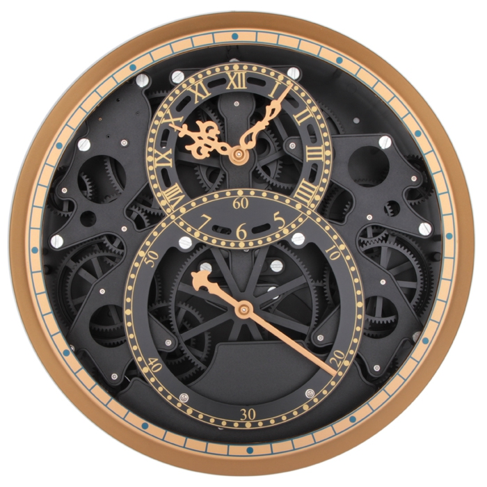 dense atmosphere heavy gear mechanical hollow wall clock