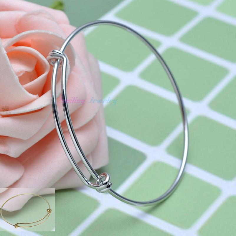 20pcs Fashion Wiring Copper Metal Expandable Adjustable Charms Blank Base Bracelet Bangle For DIY Beads Pendants(China (Mainland))