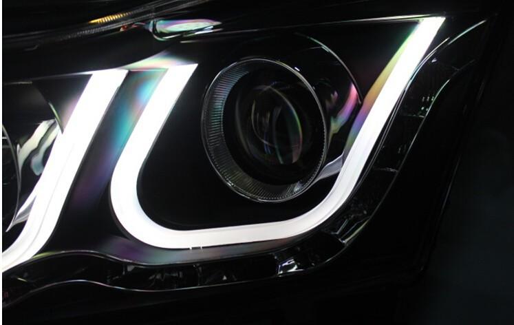 Auto Clud for chevrolet cruze headlights 2009-14 for chevrolet cruze U led angel eyes light bar DRL Q5 bi xenon lens car styling