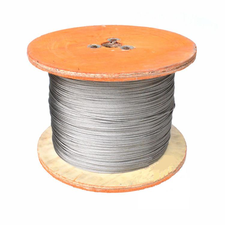 10m/lot 2.0mm High Quality 304 Stainless Steel Wire Rope Wick SS Cable Wick DIY 7x7 Strand Core NON GALVANIZED(China (Mainland))