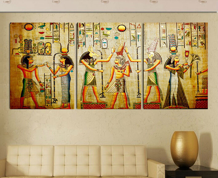 Online get cheap egyptian decor alibaba for Egypt mural painting