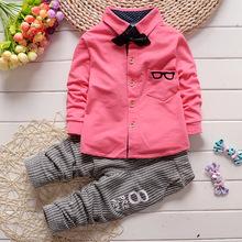 Baby Boy Cloth Set 2016 new children's clothing boys cute suits infant clothes children T-SHIRT+ PANT 2 pcs cloth set