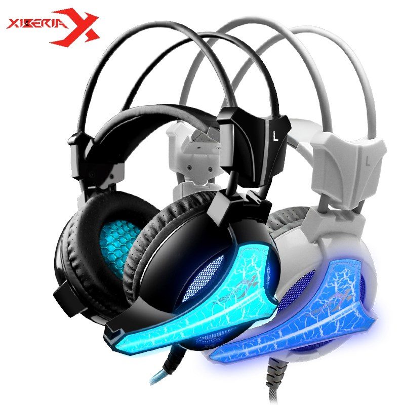 Xiberia X5 Gaming Headset Music Seven Color Breathing Light Headphone With Microphone Bass For LOL For Mobile Phone PC Laptop