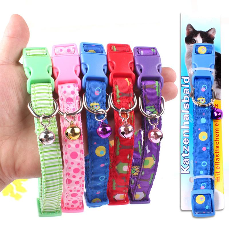 Hot Sale 2015 Accessories For Dogs Cute Print Cat Bell Collar Adjustable Outdoor Pet Collar For Small Dogs Coleiras Para Caes(China (Mainland))