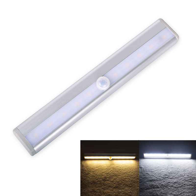 NEW Motion Sensor Cabinet Light 10leds LED Night Light IR Motion Detector Wireless Induction Lamp For Closet Kitchen Cupboard(China (Mainland))
