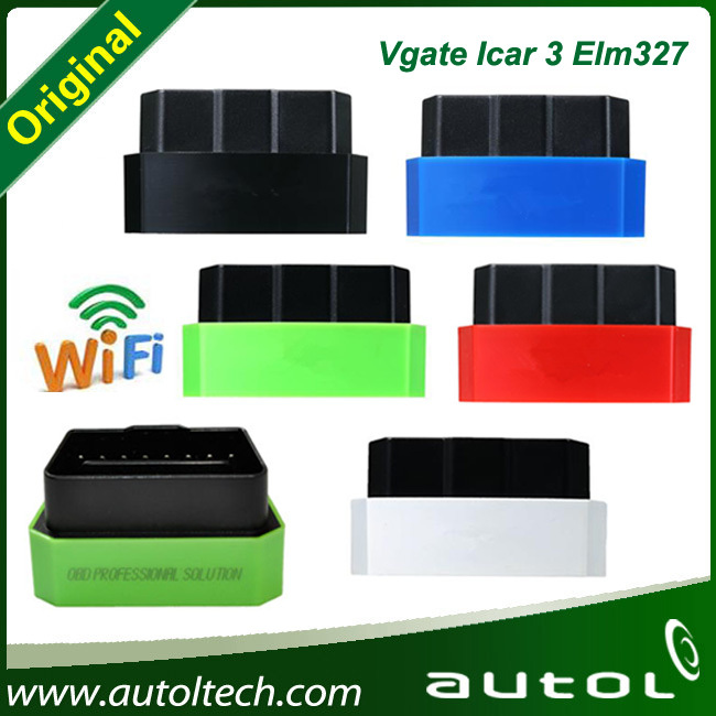 Factory price Colorful Vgate iCar 3 wifi OBD ELM327 Code Reader iCar3 for IOS Android PC---elm327 wifi vgate icar3 scanner(China (Mainland))