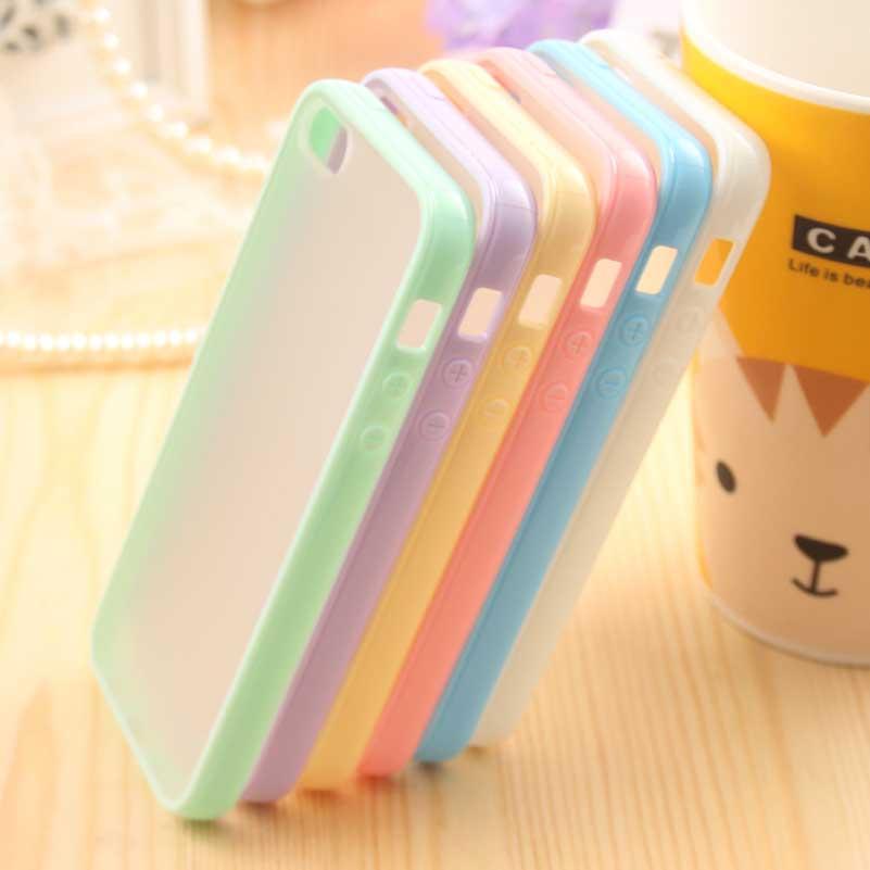 Ультратонкий мода симпатичные цвета конфеты сумка телефон чехол для Apple , Iphone 5 чехол для iPhone5 5S Moblie телефон защиты оболочки