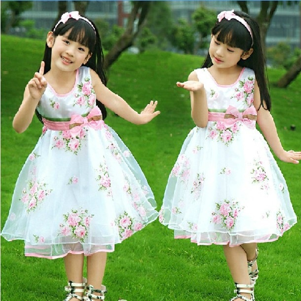 AliExpress.com Product - Free Shipping Hot !Promotion!2014New Items Children Girls Dress Baby Princess Dress Dance Dresses For Kidsfor 4-12Years 5 Colors