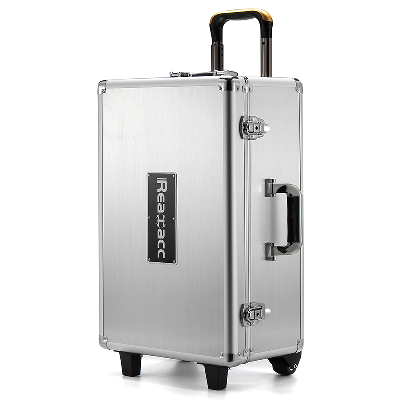 Hot New Realacc All Aluminum Trolley Case Pull Rod Hand Box Tool Box Aluminum Box Case For DJI Phantom 4 RC Quadcopter Part(China (Mainland))