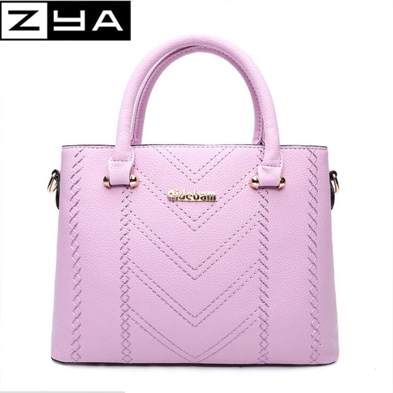 ZYA Portable shoulder tote bag summer new Korean fashion style handbag hand bags fashion versatile zipper hasp PU leather(China (Mainland))