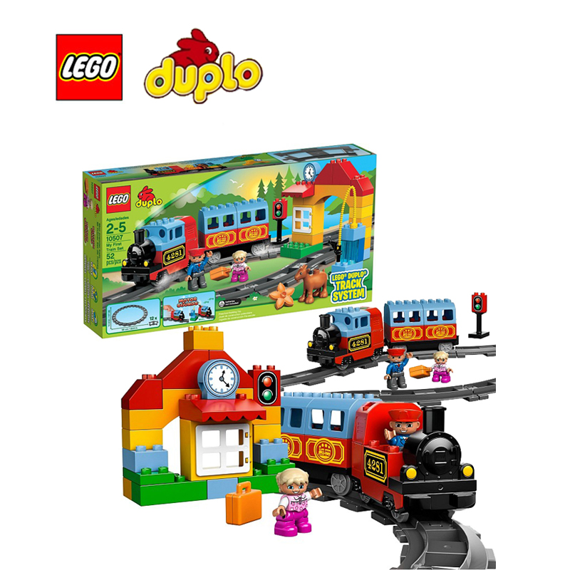 LEGO Duplo My First Train Set Architecture Building Blocks Model Kit Plate Educational Toys For Children LEGC10507(China (Mainland))