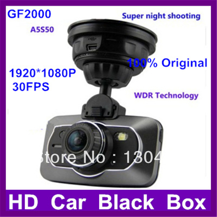 GF200 2.7 inch car camcorder FHD 1920*1080P 170 degree GPS Ambarella vehicle DVR WDR 16:9 super night shooting camera(China (Mainland))