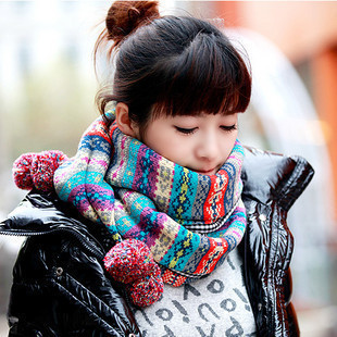 Autumn and winter Women bohemia yarn ball scarf fresh twisted muffler scarf