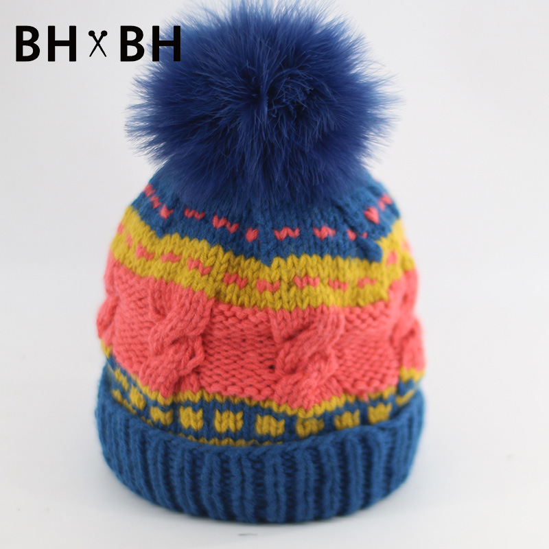 High Quality unisex knit skullies beanies warm casual comfortable men and women chapeau mixed colors with pom beanies BH-B2564(China (Mainland))
