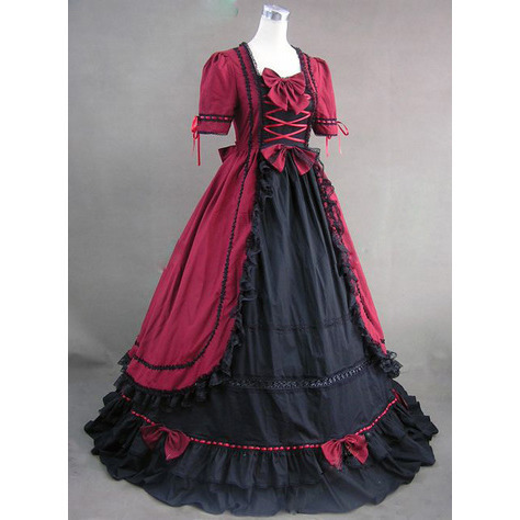 Custom Made-Georgian Victorian Gothic Period Dress