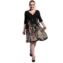 2017 New Women Summer Boho Dress Ladies Vestidos Largos Robe Femme Print Beach Dress Plus Size 6XL 7XL Bohemian Maxi Dresses(China (Mainland))