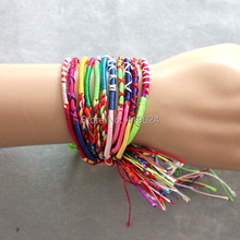 Min 10 Free Shipping NEW BULK 50pcs Jewelry Lots Colorful Braid Friendship Cords Strands Bracelets
