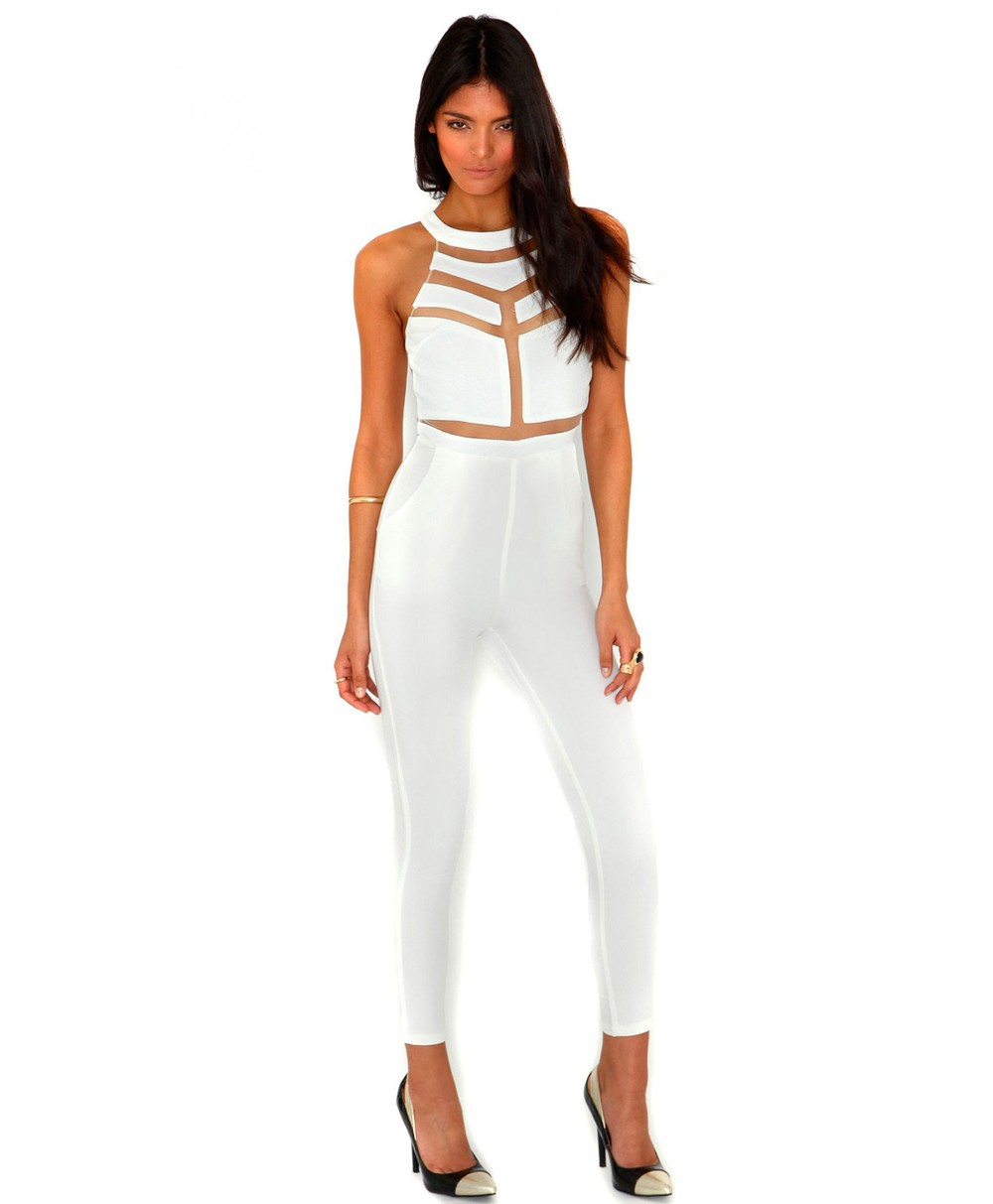 White Jumpsuits And Rompers For Women Priletaicom