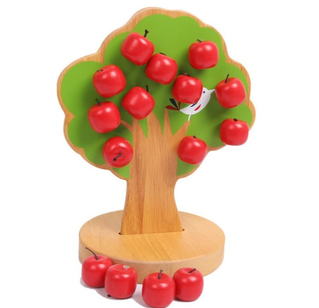Magnetic Tree Kids intelligence  Learning & Education Baby Wooden MathToy