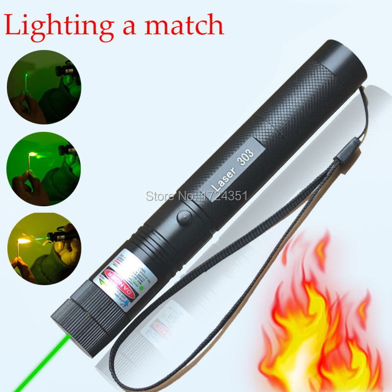 High Power lazer 303 Laser verde 532nm Laser Pen Pointer green laser 10000mw powered instantly burning matchs not 100000mw(China (Mainland))