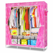 DIY Simple Clothes Wardrobe Combination Non-woven Fabric Large Capacity Bedroom Furniture Storage Cabinet Portable Wardrob(China (Mainland))