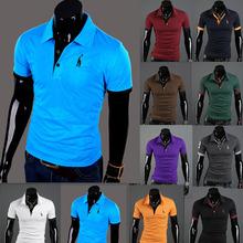 2016 Men Solid polo shirt solid Tops &Tees Dress Shirt Summer Sports polo men Tennis Clothing Cool Tee Camisa Polo Masculina