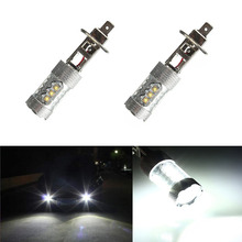 Buy 2pcs/set H1 80W 16SMD 6000K LED Fog Light Tail DRL Car Headlight Lamp Bulb Super Bright White for $20.25 in AliExpress store